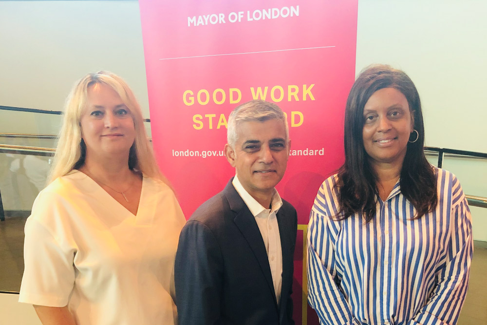 Mayor of London with staff